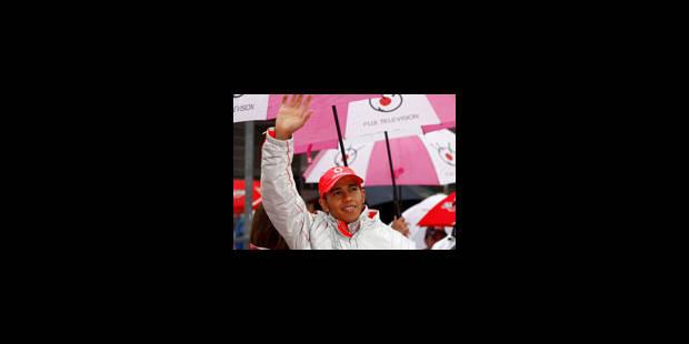 Hamilton, vainqueur sous la pluie - La Libre