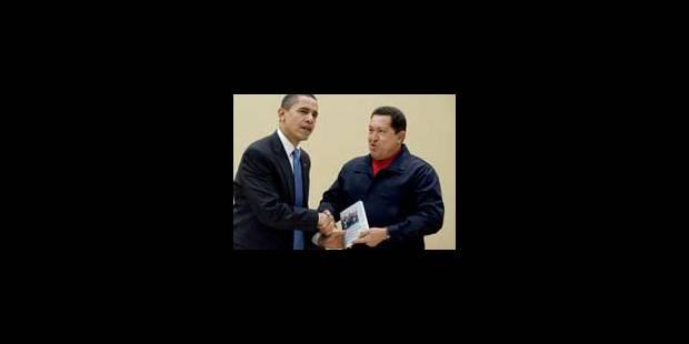 Chavez offre un livre à Obama dans un nouveau geste conciliant - La Libre