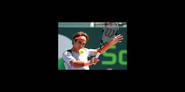 Miami: Roger Federer au 3e tour sans trembler - La Libre