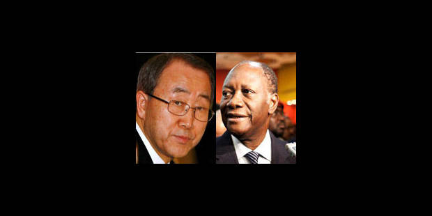 "Ban Ki-moon à Ouattara: ""évitons un nouveau bain de sang"" - La Libre"