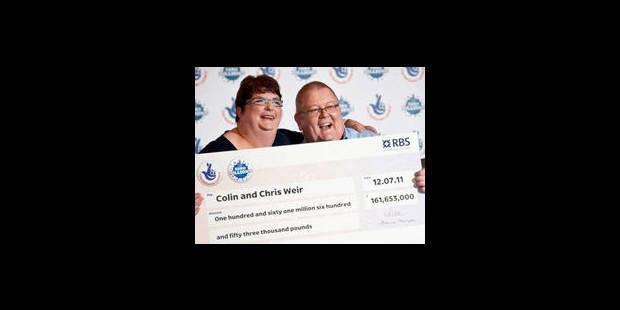 Jackpot record pour un couple britannique à la santé précaire - La Libre