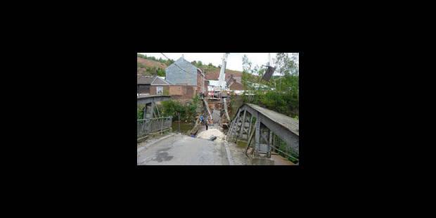 Effondrement d'un pont à Trooz: une erreur de signalisation - La Libre