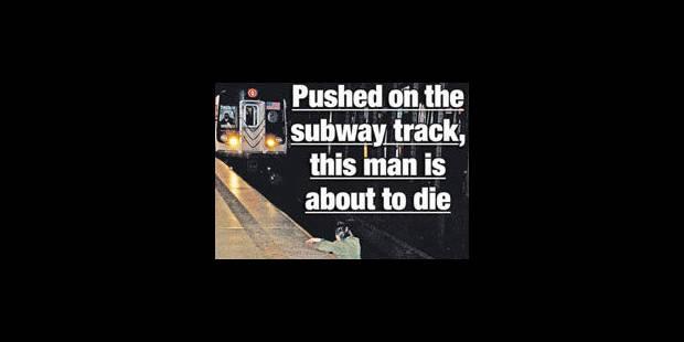La photo d'un homme tué dans le métro à New York suscite l'indignation - La Libre