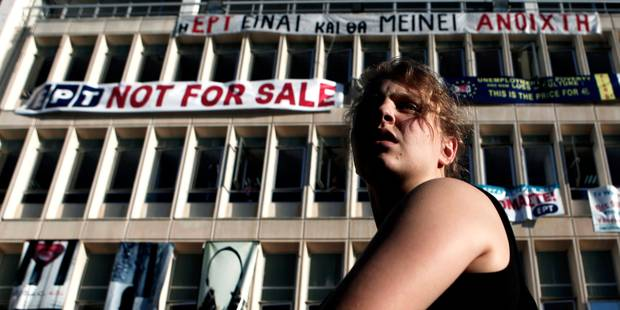 Grèce: la police évacue le siège de la TV nationale occupée - La Libre