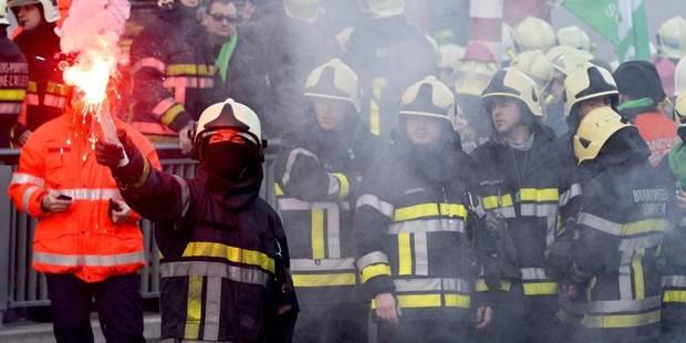 Manifestation des pompiers: le calme après la tempête - La Libre