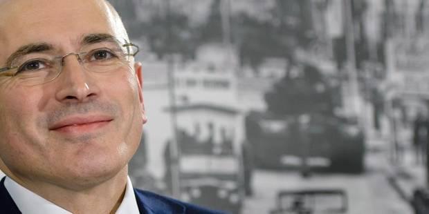 """Khodorkovski déclare qu'on ne lui a pas laissé """"le choix"""" de rester en Russie - La Libre"""