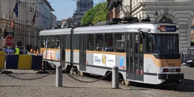 Un tram heurte un piéton entre les stations Botanique et Sainte-Marie à Bruxelles - La Libre