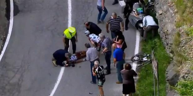 Tour d'Italie: les terribles images de la chute de Pozzovivo (Vidéo) - La Libre