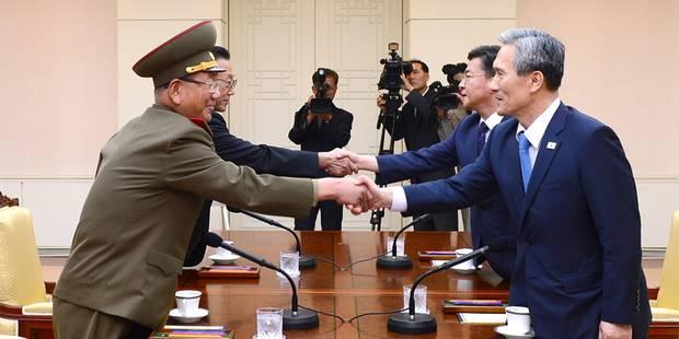 Les deux Corées se mettent d'accord pour désamorcer les tensions - La Libre
