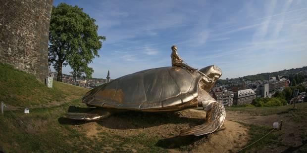 Art public à Namur: souscription pour acheter la tortue de Jan Fabre - La Libre