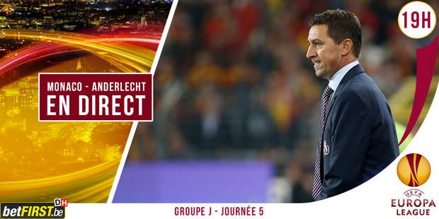 Monaco - Anderlecht : 0-1 (DIRECT) - La Libre