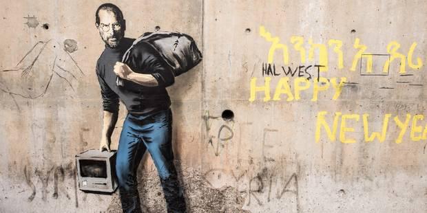 Trois oeuvres de Banksy consacrées aux migrants à Calais - La Libre