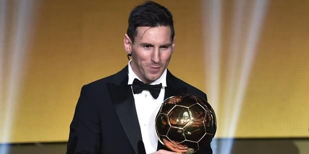 Messi s'offre le cinquième Ballon d'Or de sa carrière - La Libre