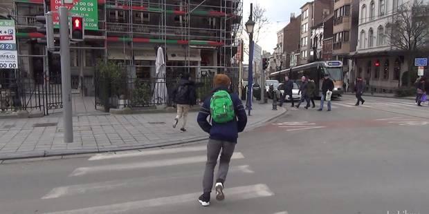 """Passage pour piétons: """"En général, je passe sans faire attention"""" (VIDEO) - La Libre"""