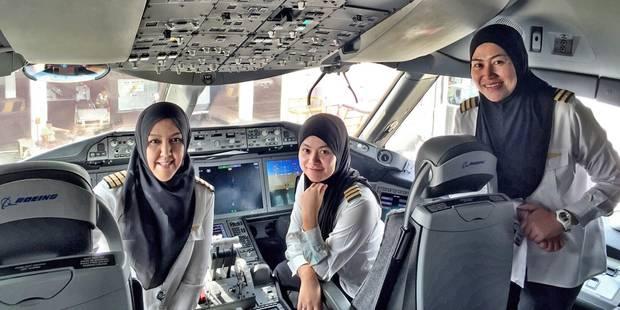 Equipage 100% féminin pour la Royal Brunei Airlines à destination de... l'Arabie saoudite - La Libre