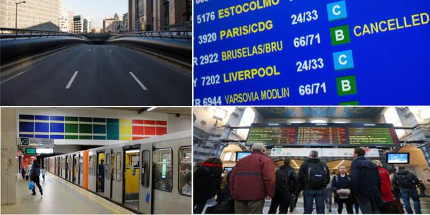 STIB, SNCB, routes : le point ce vendredi - La Libre