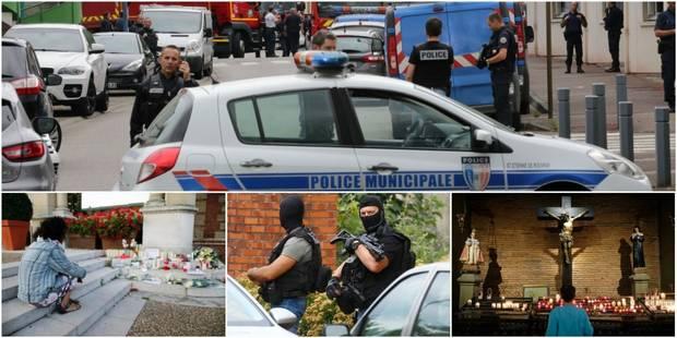 """Attentat dans une église en France: l'un des deux auteurs """"formellement identifié"""", il était placé sous surveillance éle..."""