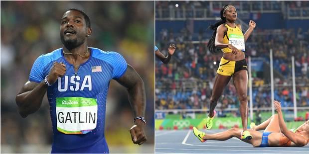 Les perfs de Rio: Bolt qualifié sur 200, pas Gatlin, Elaine Thompson (encore) en or - La Libre