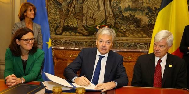 La Belgique a signé le Ceta - La Libre