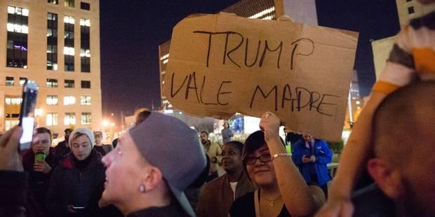 """Trump estime que les manifestations contre lui sont """"encouragées par les médias"""" (PHOTOS) - La Libre"""