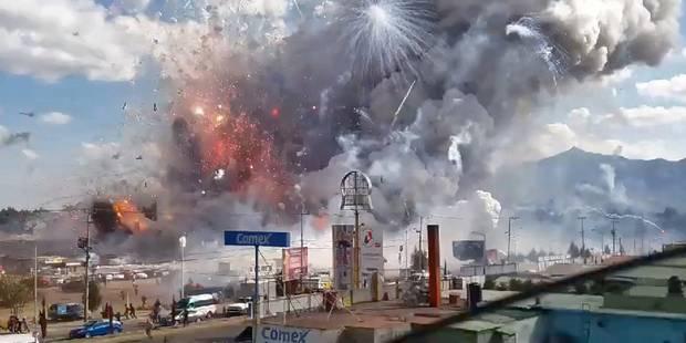 Explosion de feux d'artifice au Mexique: un nouveau bilan de 35 morts - La Libre