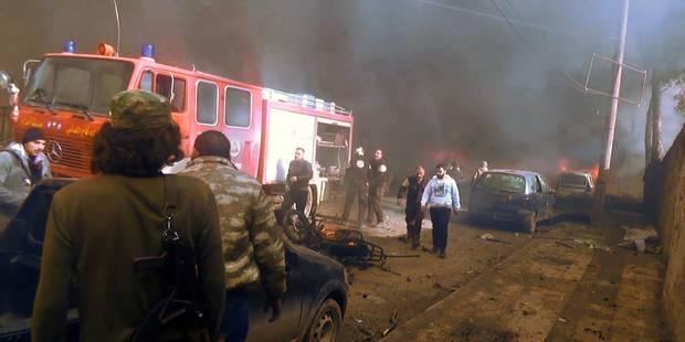 Syrie: 43 morts au moins dans l'explosion d'une voiture piégée à Azaz (PHOTOS + VIDEO) - La Libre