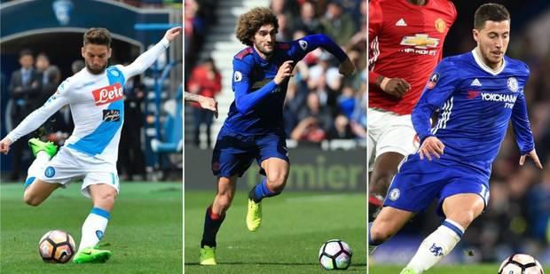 Diables rouges: Hazard blessé, Mertens et Fellaini marquent (VIDEO) - La Libre