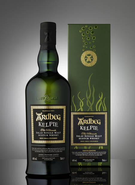 L'Ardbeg Kelpie le premier whisky de la distillerie dont le cœur a vieilli dans des fûts de chêne vierge provenant des côtes de la mer Noire. Env. 115€