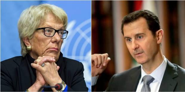 "Selon Carla Del Ponte, il y a ""assez de preuves pour condamner Bachar al-Assad"" - La Libre"