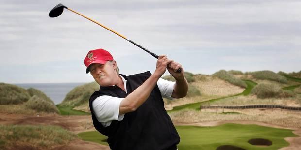 Trump passe tellement de temps au golf que les caisses du Secret Service sont vides - La Libre