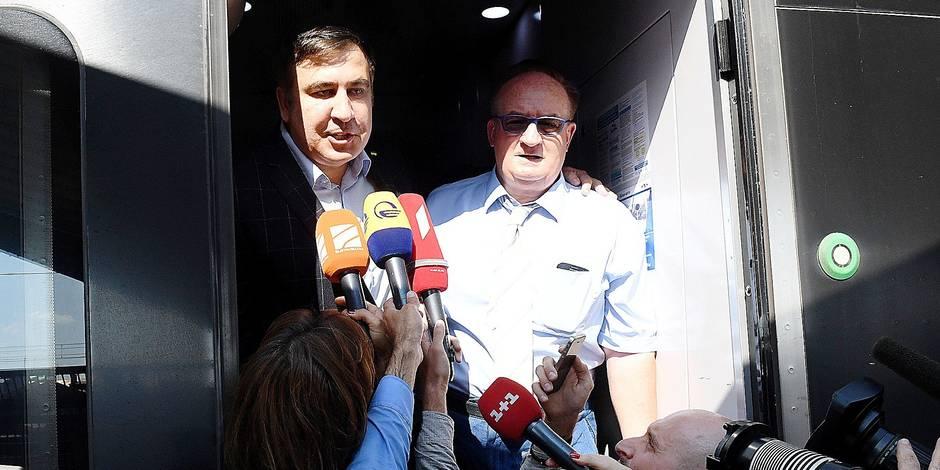 L'opposant Saakachvili entre en force en Ukraine - La Libre