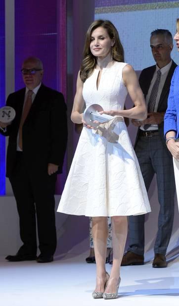 En Juillet 2017 pour délivrer les prix de la mode en Espagne