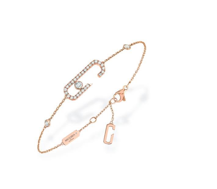 De la haute joaillerie à qui on a donné un grand grand coup de jeune : les stars s'arrachent les bijoux Messika. ici, le bracelet de la collection capsule
