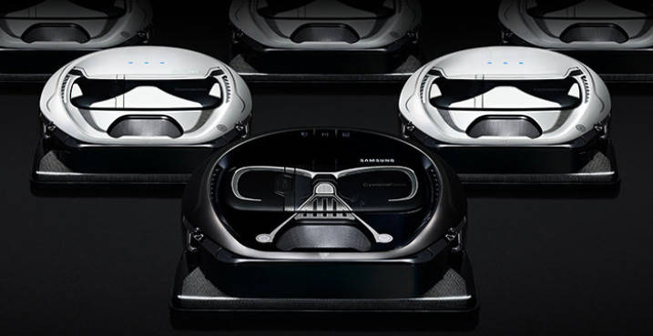 Version Stormtrooper ou Dark Vador, la poussière ne résistera pas à l'Empire.           Samsung. 799 ou 599 dollars.