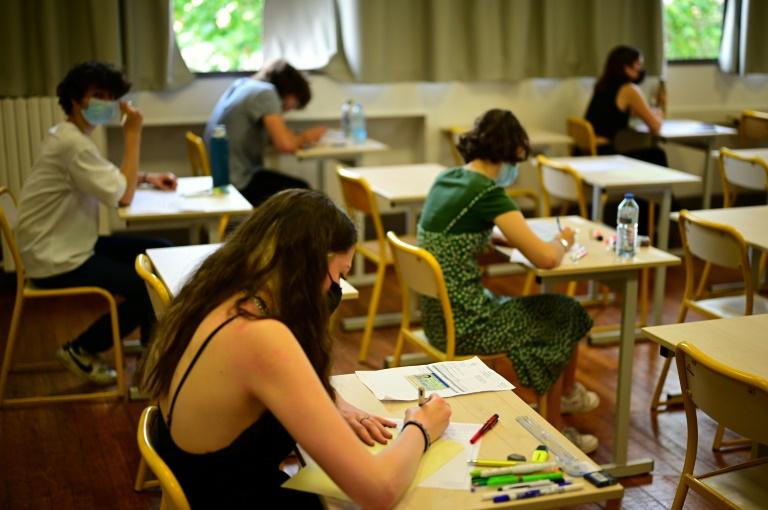 Epreuve de philosophie au lycée Hélène Boucher, le 17 juin 2021 à Paris