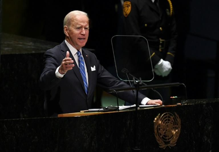 Joe Biden devant l'Assemblée générale des Nations unies à New York le 21 septembre 2021