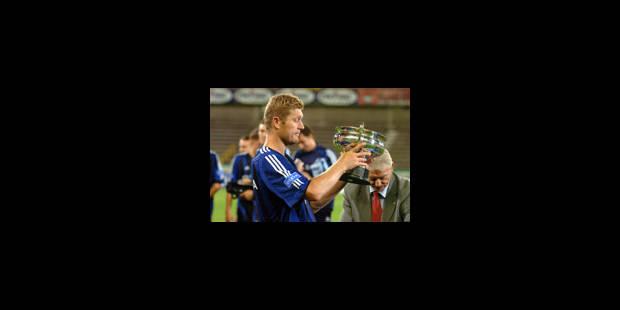 Premier trophée de Ceulemans avec le FC Bruges