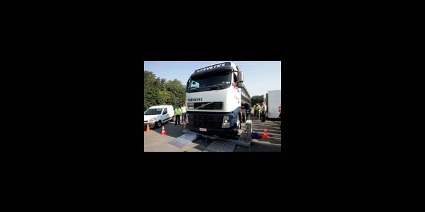 Des contrôles renforcés pour les camions - La Libre