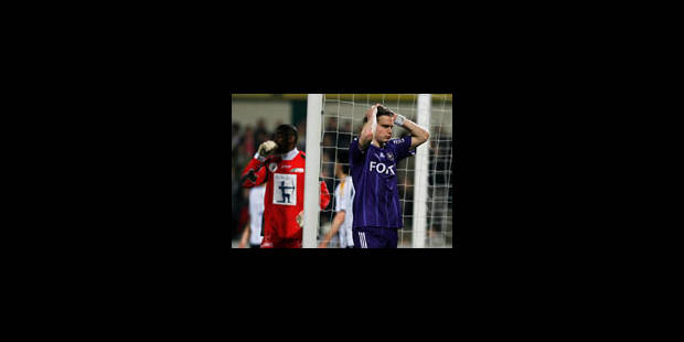 Anderlecht perd deux points précieux...