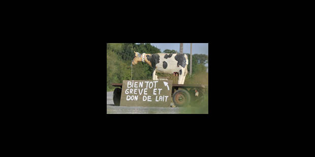"""La """"grève du lait"""" est déclenchée - La Libre"""