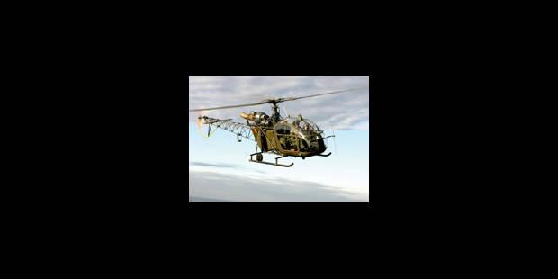 Derniers tours de pales en Alouette II