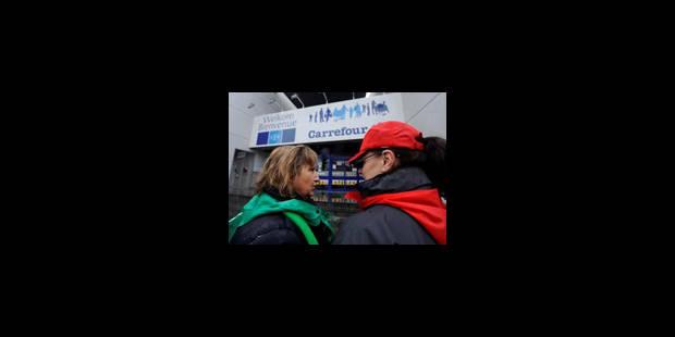 Carrefour: pour les syndicats, très peu de marge de manoeuvre - La Libre