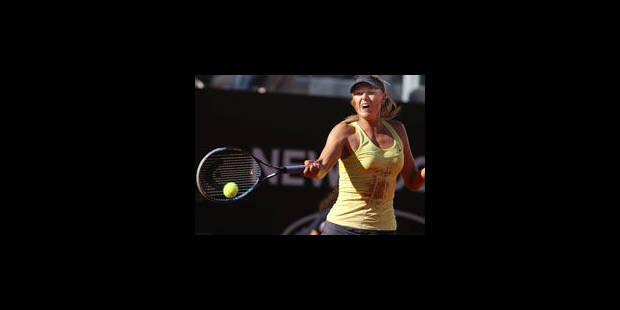 Sharapova prive Wozniacki de finale à Rome - La Libre