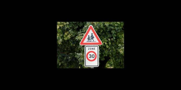 Zone 30: la limitation est à peine respectée - La Libre