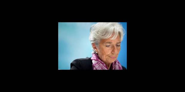 Lagarde met en garde contre un défaut des USA et loue DSK - La Libre