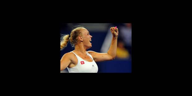 Caroline Wozniacki en quart de finale dans la douleur - La Libre
