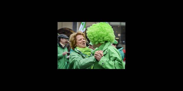 Action de la CSC dans les rues de Tournai - La Libre
