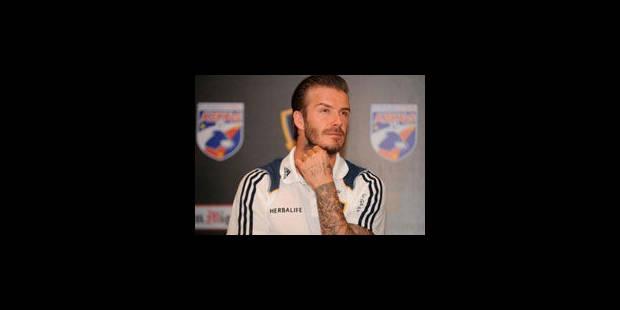 Beckham, une vraie star, surtout en dehors des terrains
