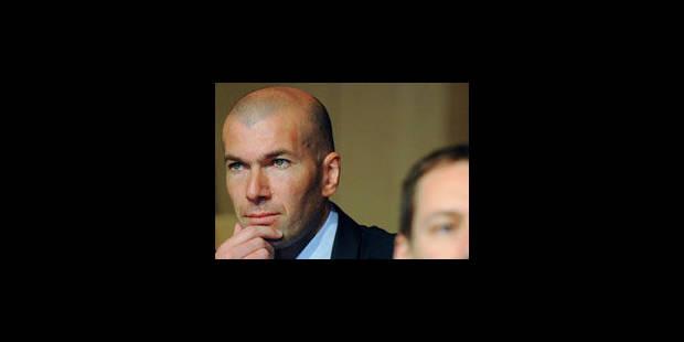 Zidane a le blues du gazon