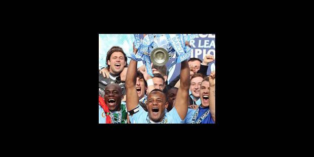 Manchester City et Kompany champions d'Angleterre - La Libre